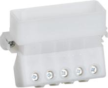 kombikasse-selvbyg komponent for indbygning stikkontaktindsats 3-pol+N+J uden afbryder 16A, lysegrå