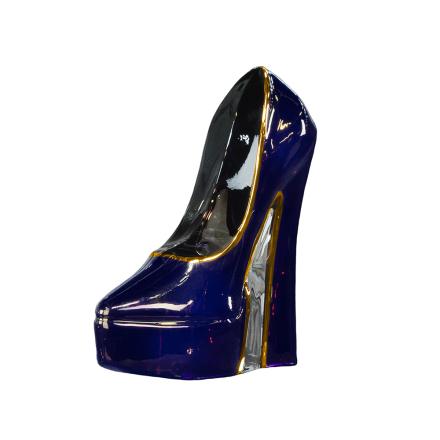 Kosta Boda - Make Up Shoe Skulptur Stiletto, Lilla