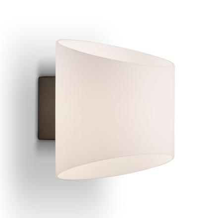 Herstal - Evoke Væglampe E14, Antracite/Opalhvid