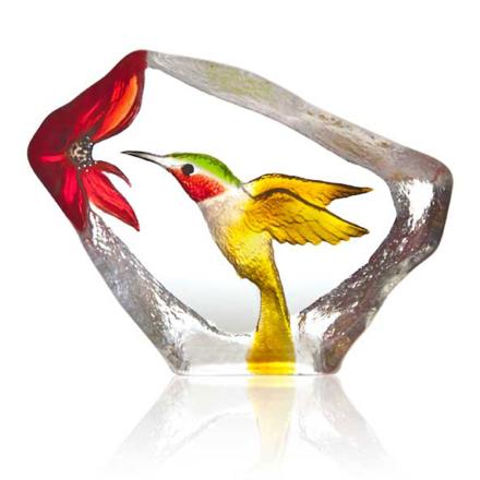 Målerås Glasbruk - Wildlife Hummingbird