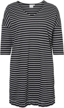 JUNAROSE Striped Dress Women Black