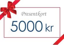Presentkort - Värde 5000 kr inkl moms