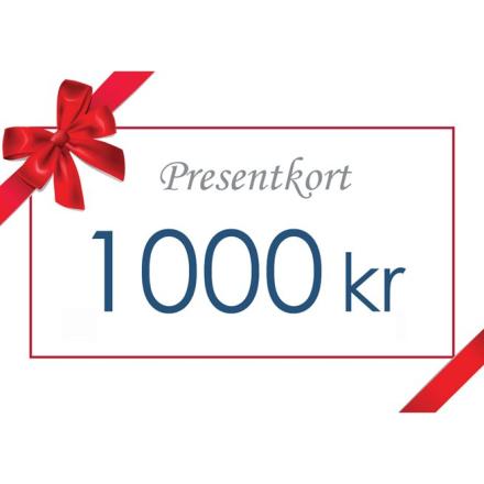 Gavekort - Värde 1000 kr inkl moms