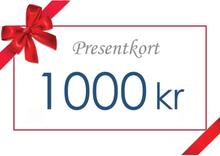 Presentkort - Värde 1000 kr inkl moms