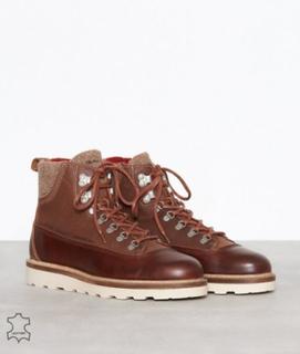 Gant Don Mid lace boot Boots Cognac