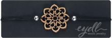 eydl Wood Jewelry - Mandala -Armbånd - svart