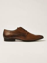 Tan Leather Fly Derby Shoes