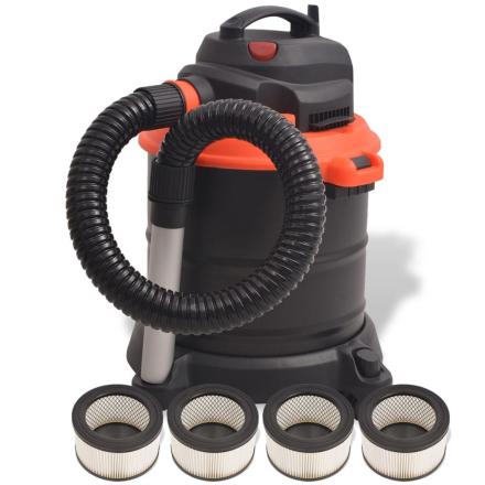 vidaXL askestøvsuger 1200 W 20 l sort og orange