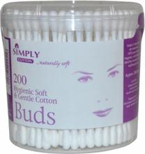 Simply Cotton Soft & Gentle Vatpinde 200 stk