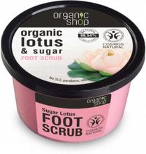 Organic Shop Organic Lotus & Sugar Foot Scrub 250 ml