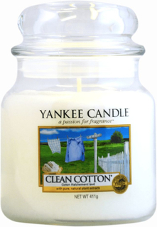 Yankee Candle Classic Medium Jar Clean Cotton Candle 411g