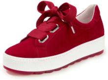 Sneakers i 100% skinn från Gabor Comfort röd