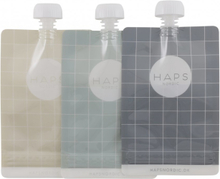 Återanvändningsbar klämmis 3 pack, 190 ml - Blå/grå
