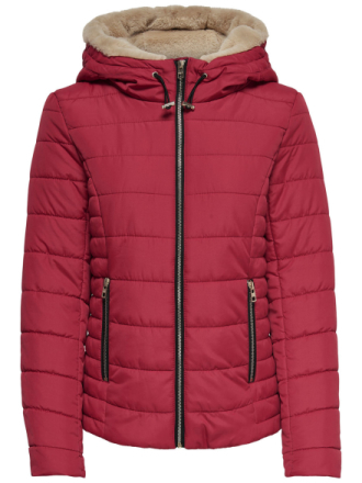 ONLY Short Quilted Jacket Women Red