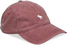 Twill Icon Cap Lue Rosa Abercrombie & Fitch