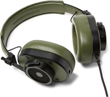 Mh40 Leather Over-ear Headphones - Army green