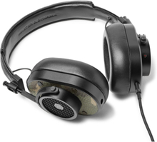 Mh40 Camouflage-print Leather Over-ear Headphones - Army green