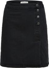 SELECTED Wrap - Denim Skirt Women Black