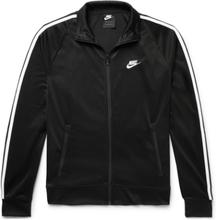 Sportswear N98 Webbing-trimmed Tech-jersey Track Jacket - Black