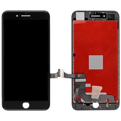 Iphone 7 Glas med Original LCD Display - Svart