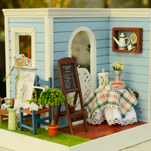 Cute Room DIY Doll House Miniature 3D Wooden Dollhouse With Furniture Handmade Toy For Children Gift Mary's Sweet Baking Z002 #E