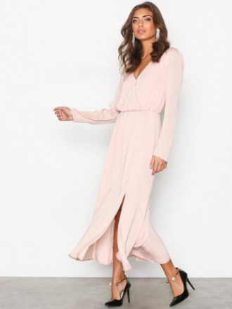 Maxikjole - Lys rosa NLY Trend Dream Dress