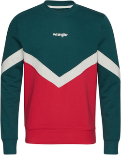 Wrangler Box Sweat Sweatshirt Trøje Multi/mønstret Wrangler