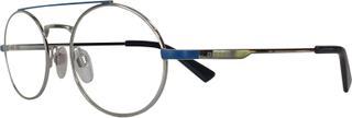 Diesel briller - Diesel dl0289 - Mønstret, Blå, Large Hel ramme i Metall - Rund