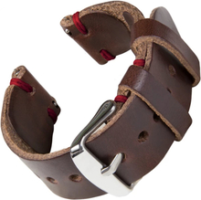 Bofink® Hånd Laget Skinn Stropp For Misfit Command - Brun / Rød
