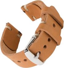 Bofink® Hånd Laget Skinn Stropp For Ticwatch C2 Onyx - Naturlig