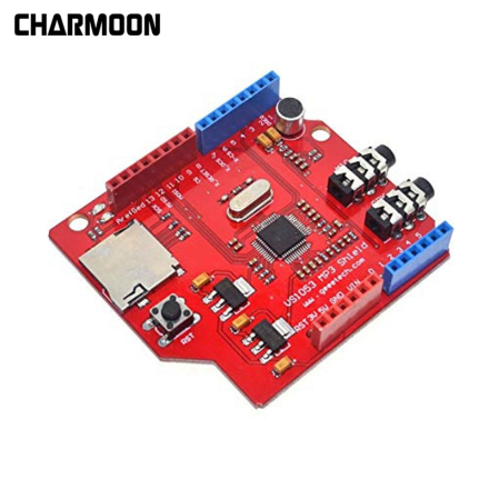 VS1053 VS1053B Stereo Audio MP3 Player Shield Record Decode Board With SD/TF Card Slot For Arduino R3 One New