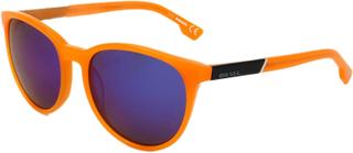 Diesel dl0123 42x dl0123 - Oransje, Blue Mirror, Unisex - Diesel briller