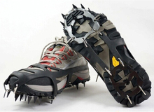 10 teeth Ice Snow Grips Anti Slip On Over shoe Boot studs Crampons Cleats Spikes Grippers
