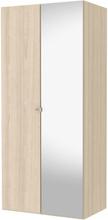 Tvilum Garderob Save 100cm (1 Slätdörr + 1 Spegeldör)-Ek