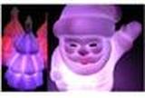 NY! Julgran + Jultomten nattlampa till barnrummet/