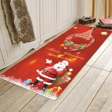Chriatmas-Weihnachtsmann-Druckboden-Matten-Festival-Haus-Dekor-Festival Antisilp-Fußmatte weicher Teppich