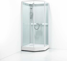 Svedbergs Ritual Classic dusjkabinett, 81x91 cm, Klart glass - Venstre