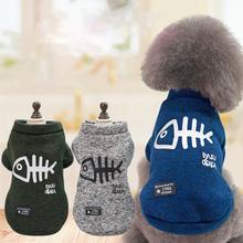 3 Farben Fisch Bond Muster Haustier Hund Katze Pullover Shirt Haustier Winter Warme Kleidung