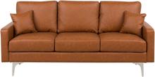 3-istuttava sohva tekonahkainen ruskea GAVLE