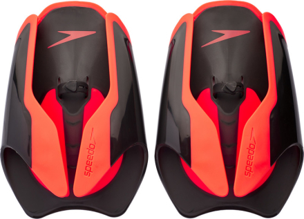 speedo Fastskin Hand Paddle, black/siren red 2019 Räpylät & Kellukkeet