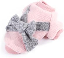 Schmetterling Bowknot Stoff stricken Haustier Hund Katze Pullover warme Haustier Kleidung für Herbst Winter