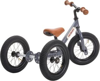 Trybike trehjuling och balanscykel (3 hjul, stål, antracit grå)