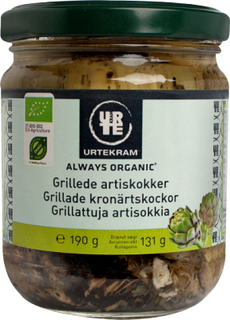 Urtekram Grillede Artiskokker Øko 190 g