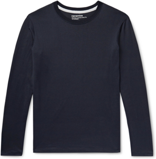 + Nanamica Slim-fit Coolmax Cotton-blend Jersey T-shirt - Midnight blue
