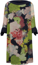 Klänning 3/4-ärm i 100% silke från Windsor mångfärgad