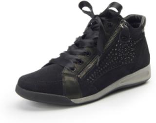 Ankelhöga sneakers för kvinnor från ARA svart