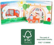 Small Foot Brandstation Billedbog I Træ FSC 100%