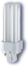 Non-integrated compact fluorescent light bulb with reflector DULUX D / E 18W/830 G24q-2 G24q-2