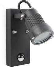 Smartwares Vägglampa med sensor 20 W svart GSW-170-MG