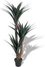 vidaXL Konstväxt Yuccapalm med kruka 155 cm grön